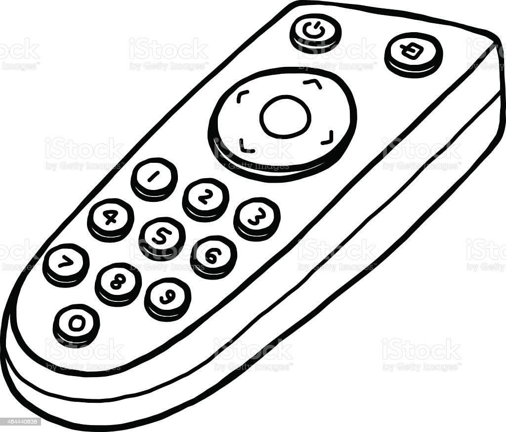 generic remote control drawing stock vector art more images of rh istockphoto com Cartoon Remote Control Remote Control Coloring Pages