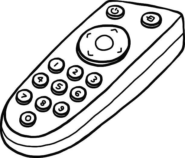 Royalty Free Remote Control Television Sketch Drawing Clip ...