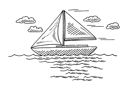 Generic Sailing Boat Drawing