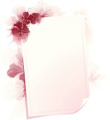 A very lovely watercolor style floral surrounding a empty card.