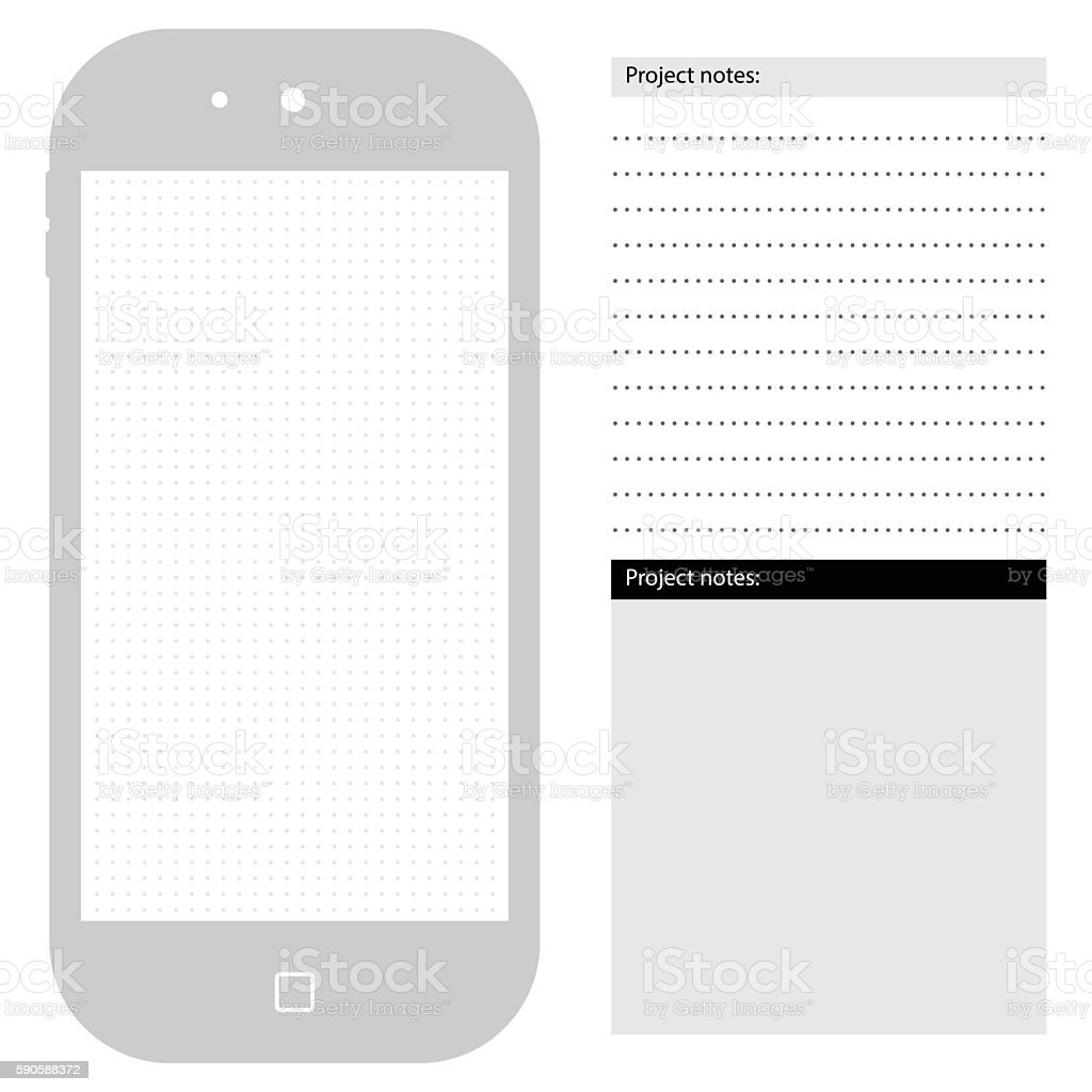 Generic Smartphone Template With Dot Grid Stock Vector Art & More ...