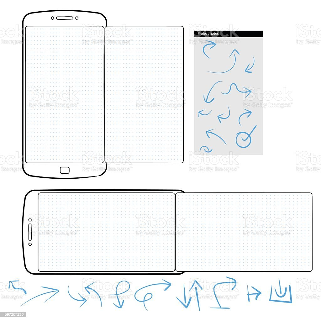 Generic smartphone template with dot grid Lizenzfreies generic smartphone template with dot grid stock vektor art und mehr bilder von designelement