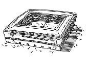 Generic Soccer Stadium Drawing