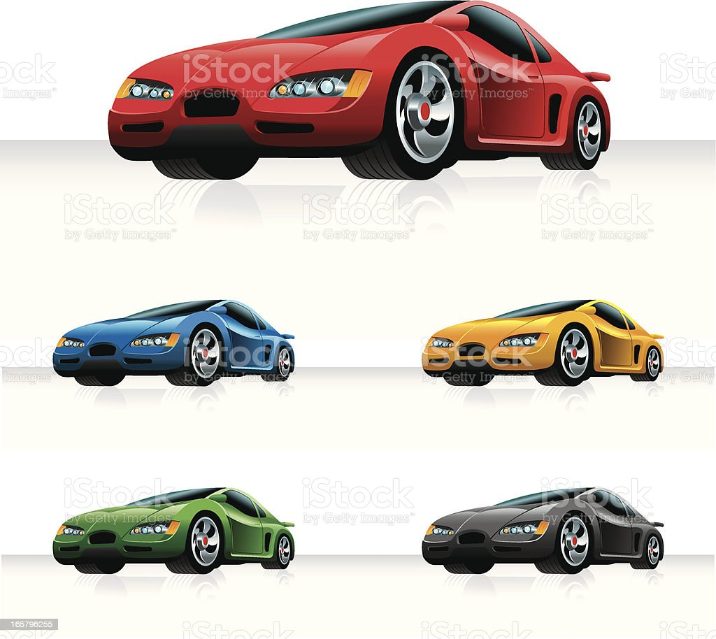 Generic Sports Car vector art illustration