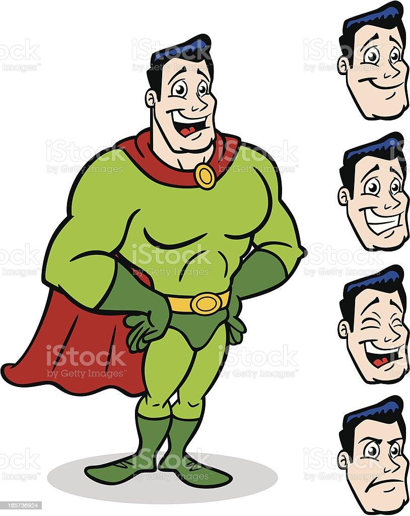 Generic Super Hero Cartoon Man royalty-free stock vector art