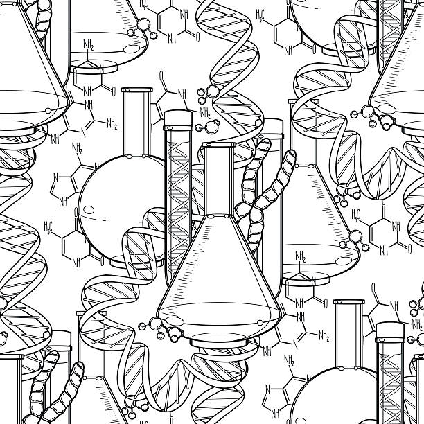 Royalty Free Chemistry Coloring Book Vector Illustration Clip Art ...