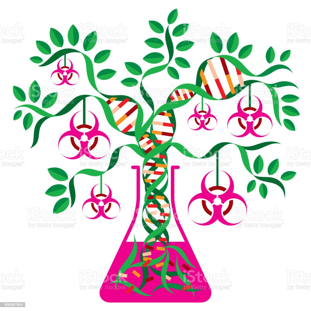 Genetically Engineered Biohazard vector art illustration