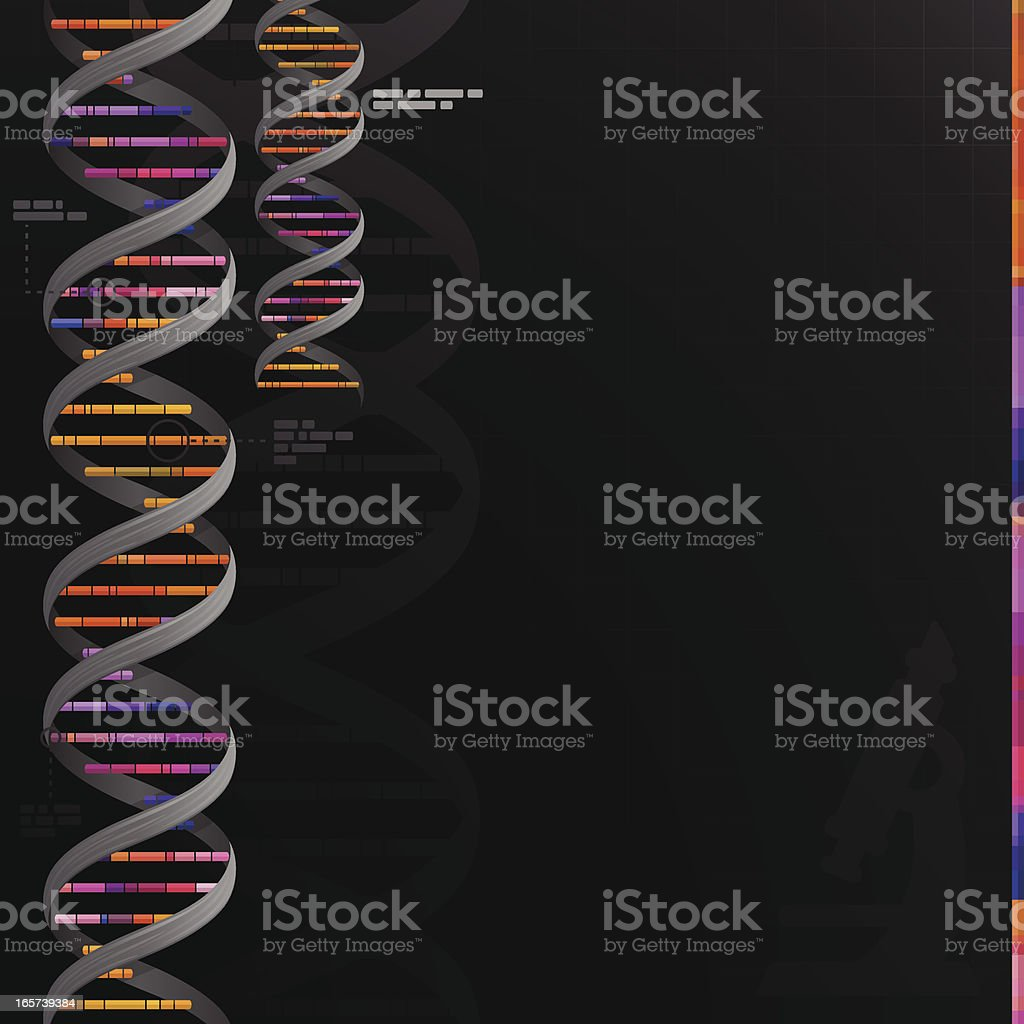 DNA Genetics Science Background royalty-free stock vector art