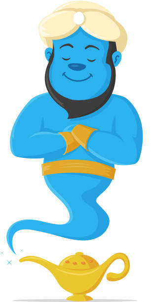 Genie vector art illustration