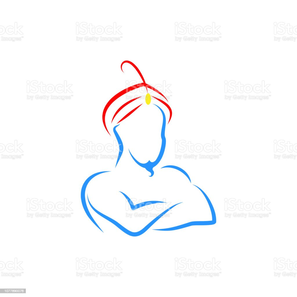 genie vector logo vector art illustration