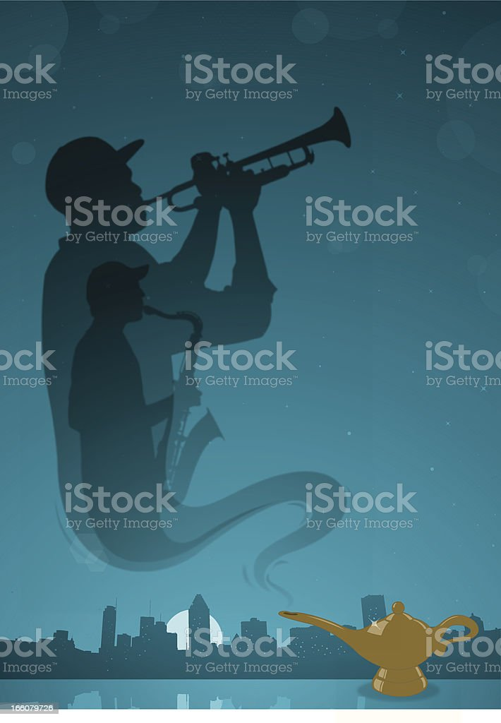 Genies of Jazz vector art illustration