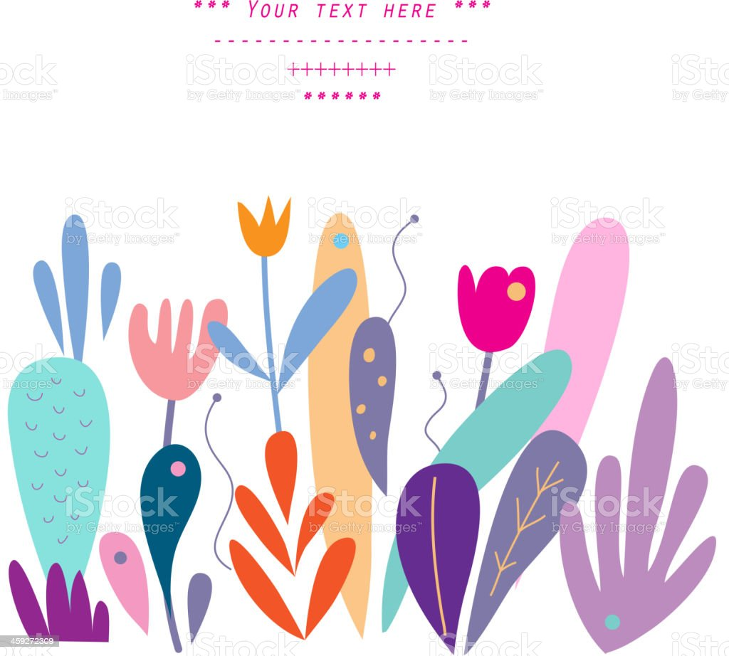 Gentle decor with floral elements in vector royalty-free gentle decor with floral elements in vector stock illustration - download image now