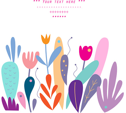 Gentle Decor With Floral Elements In Vector Stock Illustration - Download Image Now
