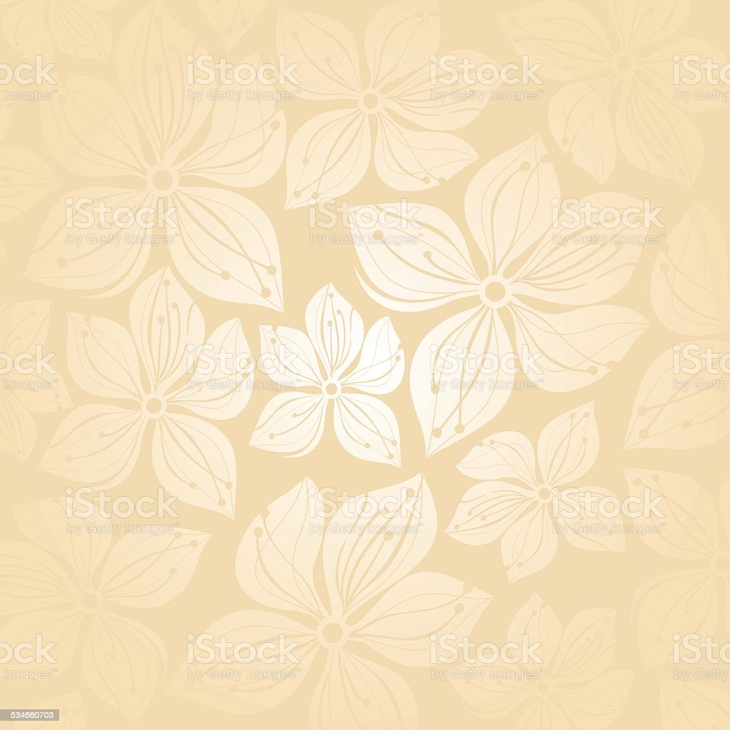 Gentle Floral Wedding Invitation Background Stock Vector Art More