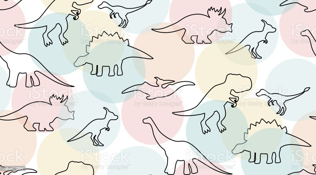 Gentle pastel colored pattern with dinosaurs royalty-free gentle pastel colored pattern with dinosaurs stock vector art & more images of abstract
