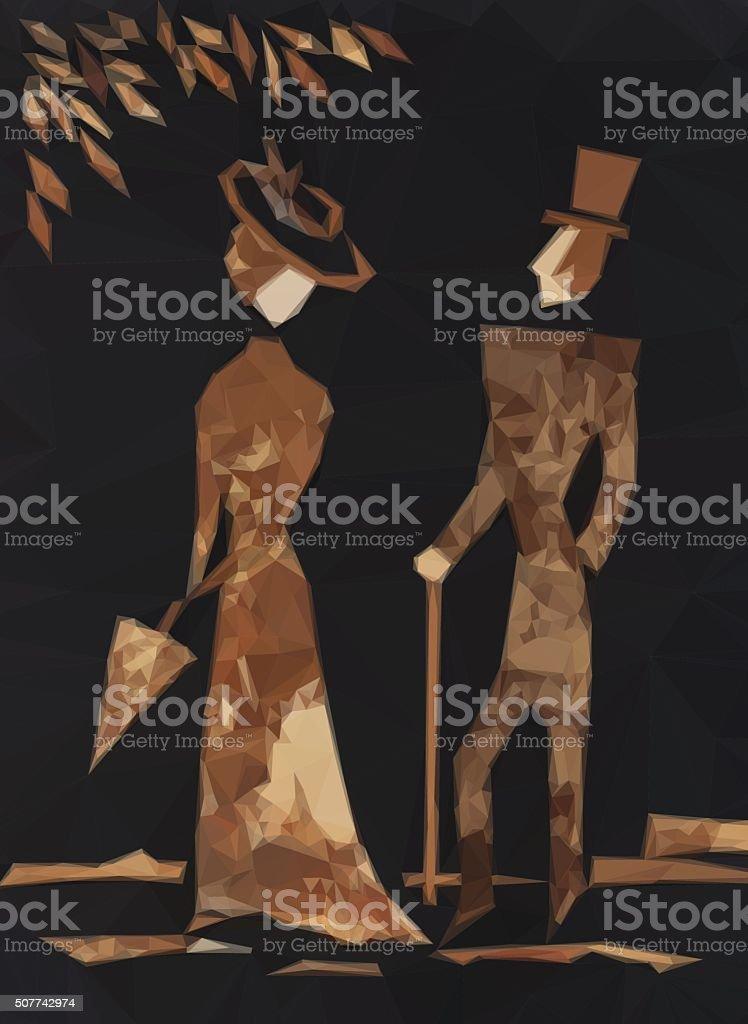 Mann und Frau Vektor – Vektorgrafik