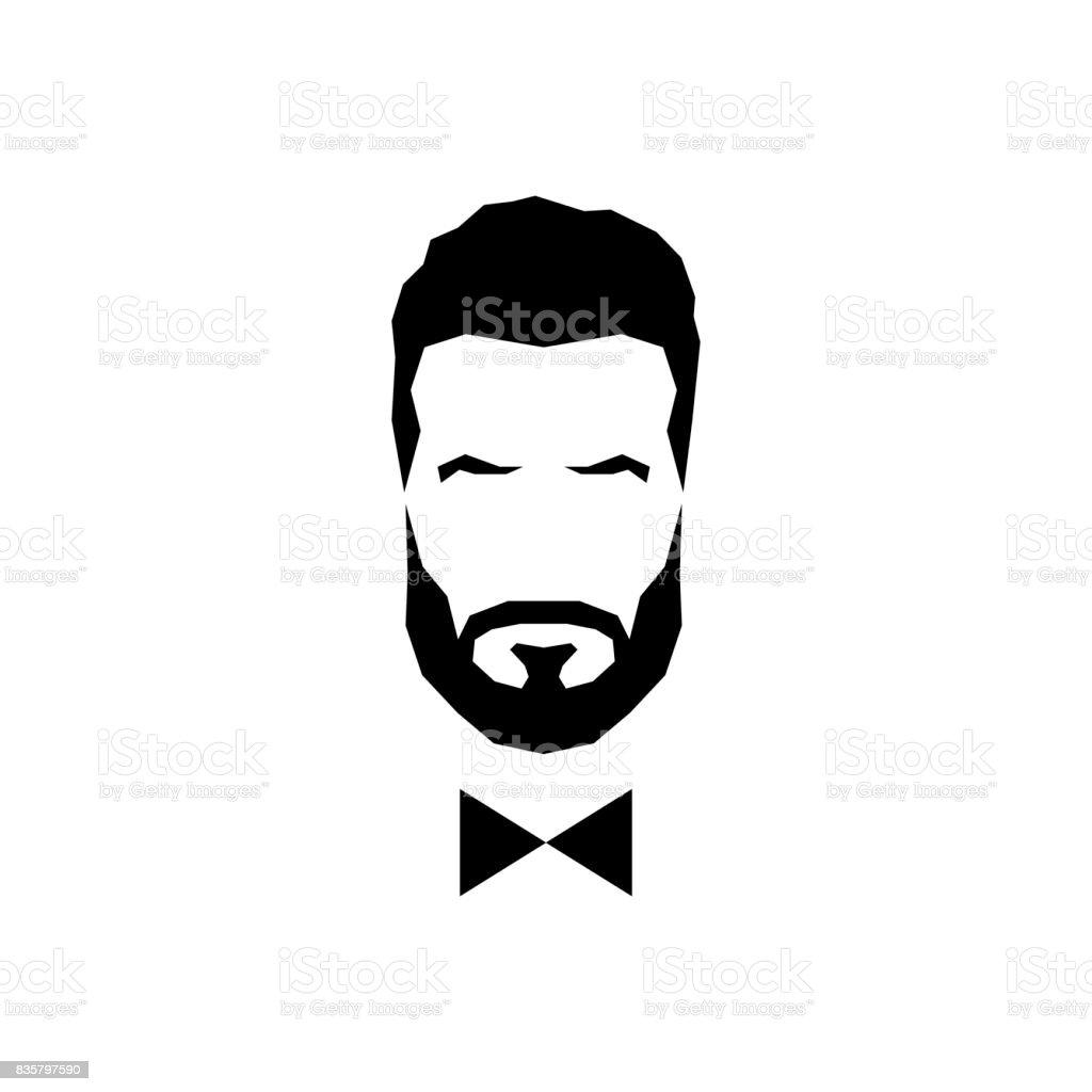 Gentleman avatar with bow tie. Vector illustration. vector art illustration