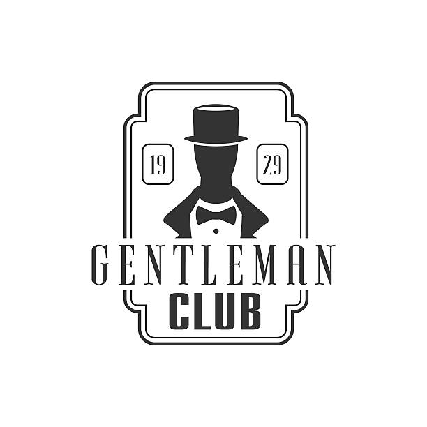 gentleman club label design - 1920 1929 stock illustrations