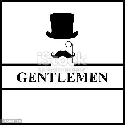 Gentleman icon. icon isolated on white background. Logo. Flat design. Vector illustration