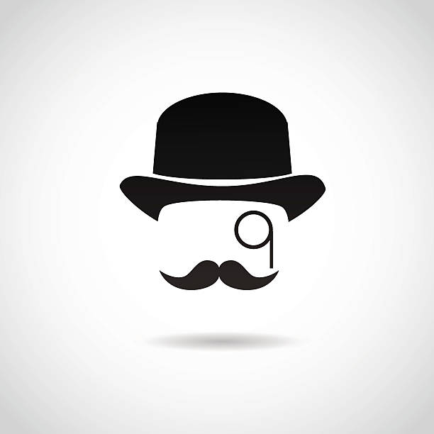 Gentleman icon isolated on white background. Vector illustration. suave stock illustrations