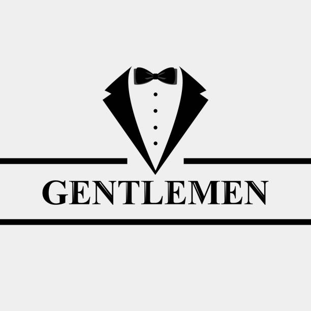 Gentleman icon. Suit icon isolated on white background. Gentleman icon. Suit icon isolated on white background. Flat design. Vector illustration tuxedo stock illustrations