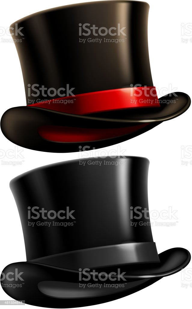 Gentleman top hat vector art illustration