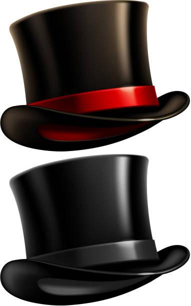 gentleman top mütze - zylinder stock-grafiken, -clipart, -cartoons und -symbole