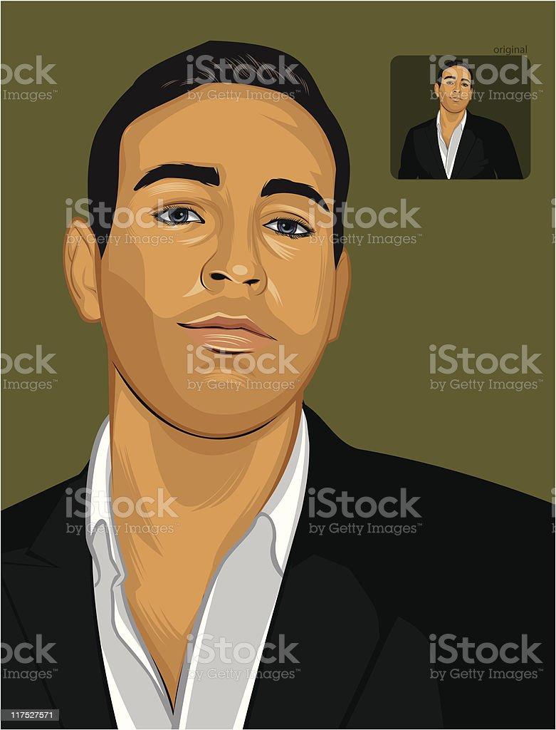 Gentleman royalty-free stock vector art