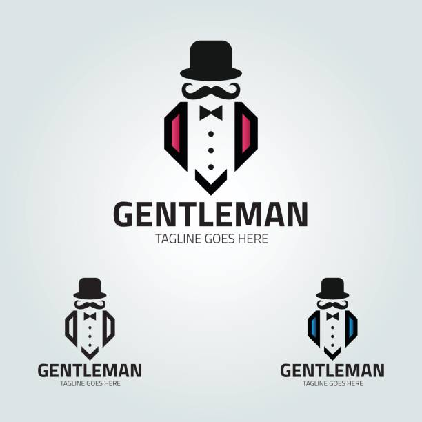 gentleman-vektor - modeboutique stock-grafiken, -clipart, -cartoons und -symbole