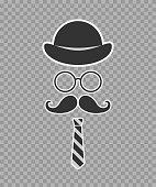 gentleman's set. hipster.hat glasses mustache tie