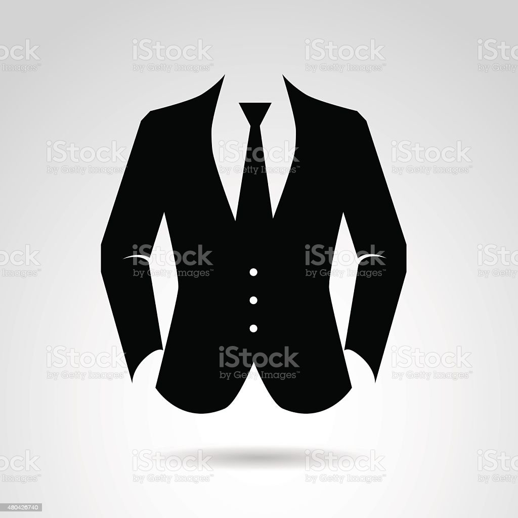 Gentleman's suit. vector art illustration