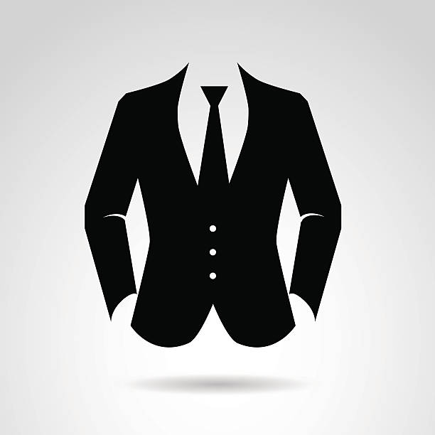 gentleman's suit. - tie stock illustrations, clip art, cartoons, & icons