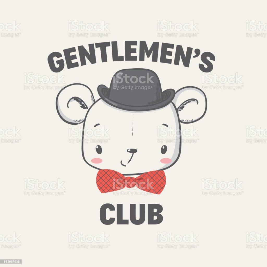 5e35c5c4443f Club De Gentlemen Illustration Vectorielle Pour Enfants Vêtements ...