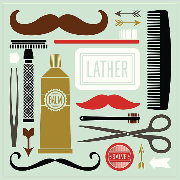 Best Men Grooming Illustrations, Royalty-Free Vector