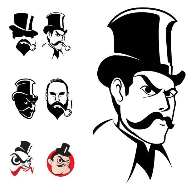 господа голову набор - watson stock illustrations