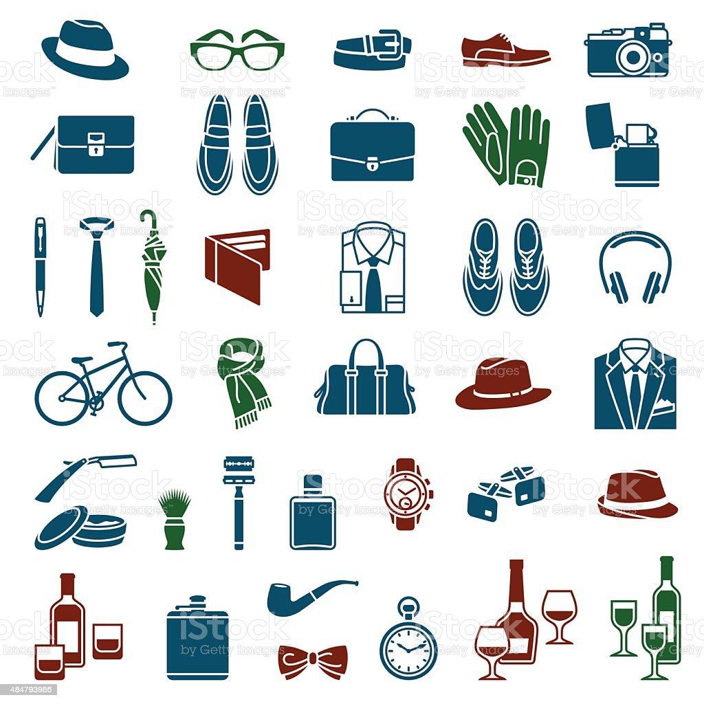 Gentlemen's accessories vector art illustration