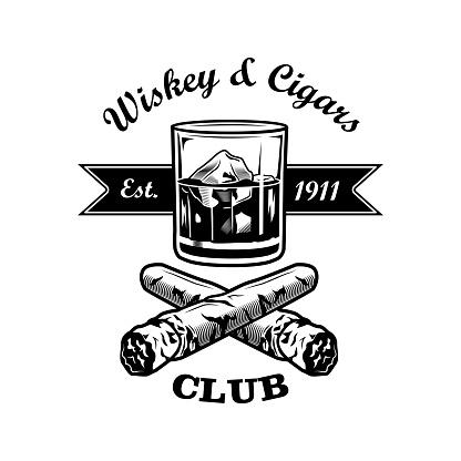Gentlemens bar vector illustration