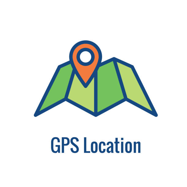 geo location targeting - gps positioning and geolocation icon - wayfinding icons stock illustrations, clip art, cartoons, & icons