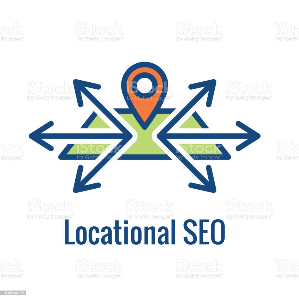 Geo Location Targeting - GPS Positioning and Geolocation Icon vector art illustration