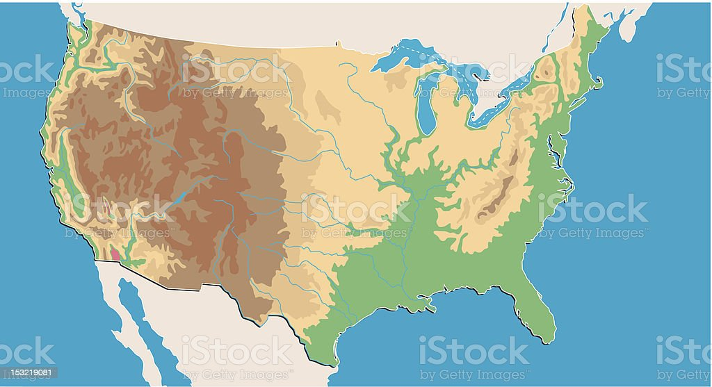 Geographical Vector Map Of Usa Stock Vector Art & More ... on historical map of the usa, geographic features map of usa, simple map of the usa, full map of the usa, wildfire map of the usa, thematic map of the usa, time map of the usa, online map of the usa, clickable map of the usa, travel map of the usa, military map of the usa, topographical map of the usa, natural map of the usa, blank map of the usa, ethnic map of the usa, big map of the usa, labeled map of the usa, outline map of the usa, empty map of the usa, topographic map of the usa,