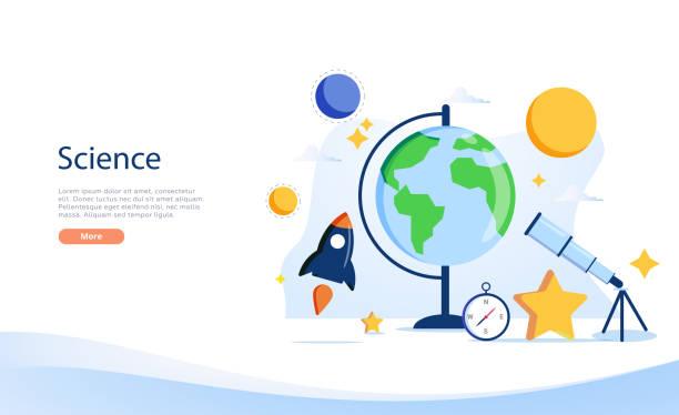 ilustrações de stock, clip art, desenhos animados e ícones de geography vector illustration. flat tiny atlas earth study online concept. abstract topography science and knowledge. - teacher school solo