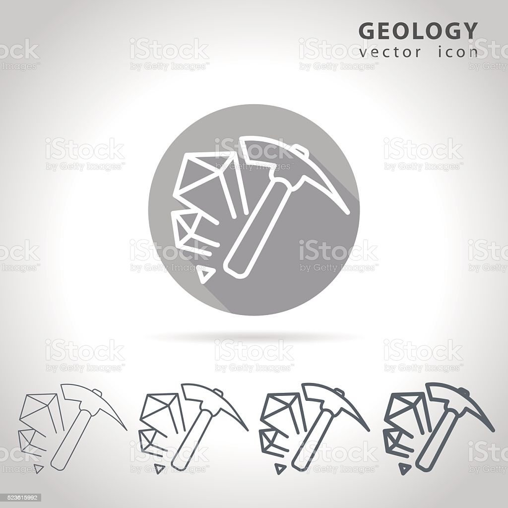 Geology outline icon vector art illustration