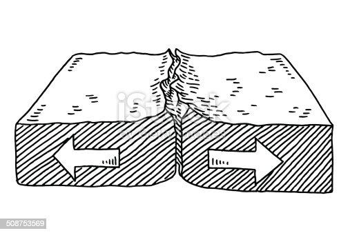 geology plate tectonics diverging drawing stock vector art  u0026 more images of arrow symbol