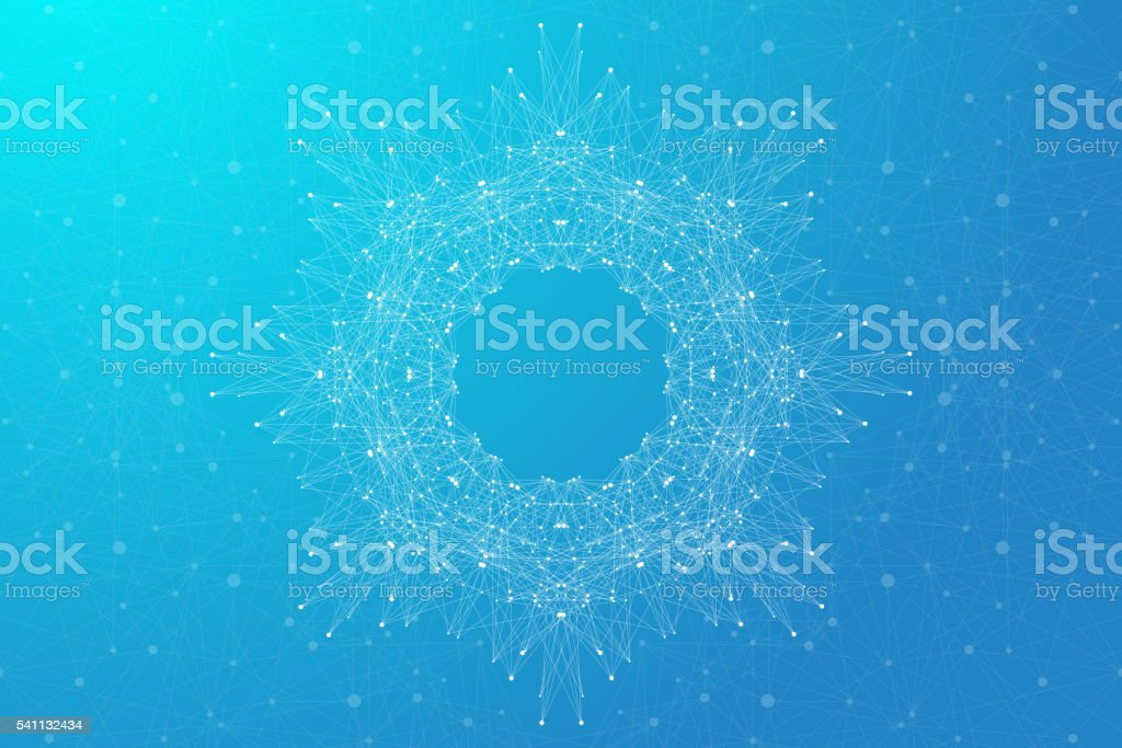 Geometric abstract background molecule and communication. Vector illustration vector art illustration