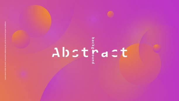 幾何抽象背景向量藝術插圖