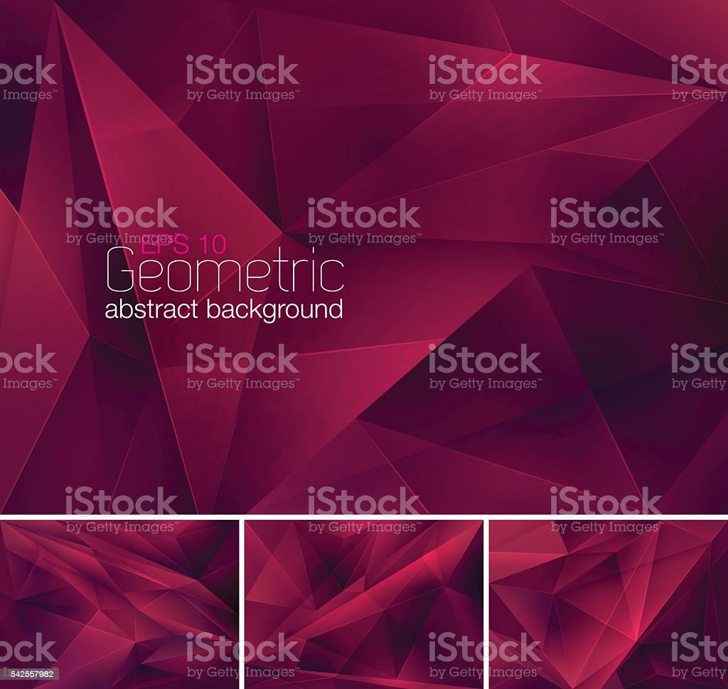 Geometric abstract background vector art illustration