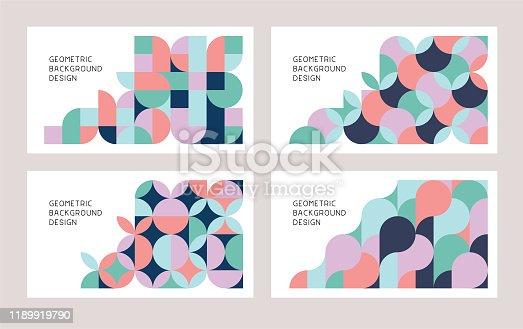 Modern geometric templates set for multiple purposes. Fully editable vectors.
