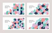 Modern geometric templates set for multiple purposes.\nFully editable vectors.