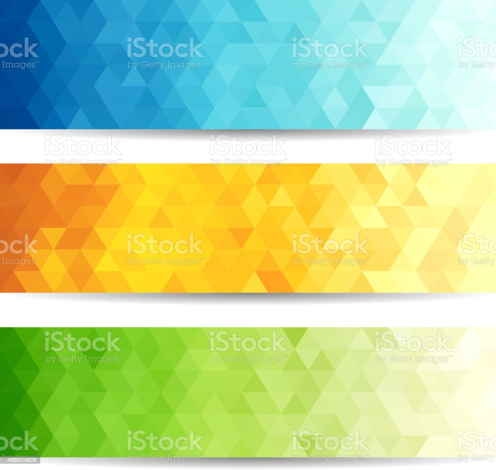 Geometric abstract banners vector art illustration