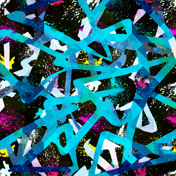 geometric abstract color pattern in graffiti style. Quality vector illustration for your design geometric abstract color pattern in graffiti style. Quality vector illustration for your design graffiti background stock illustrations